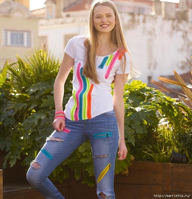 Идеи украшения кроссовок и джинсов для подростков (9) (633x657, 254Kb)