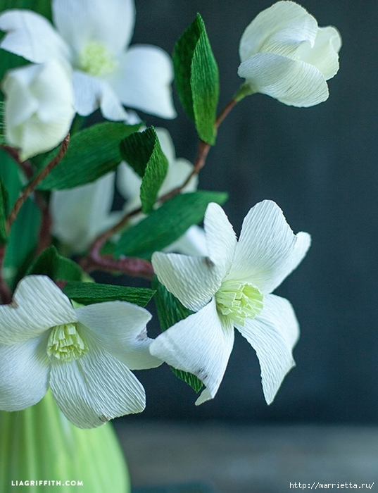 Цветы КИЗИЛА из гофрированной бумаги. Шаблоны для распечатки (2) (537x700, 247Kb)