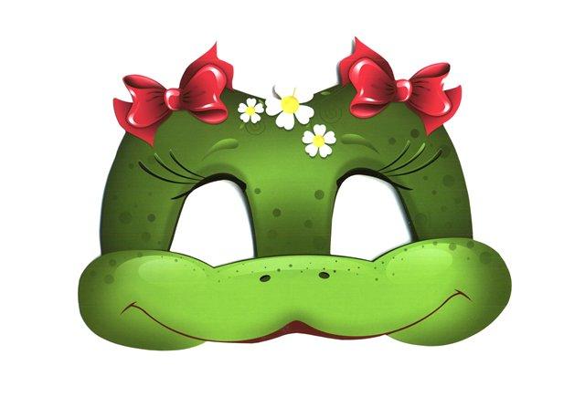 маска лягушки, как сделать маску лягушки, выкройка маски лягушки, маска лягушонка,