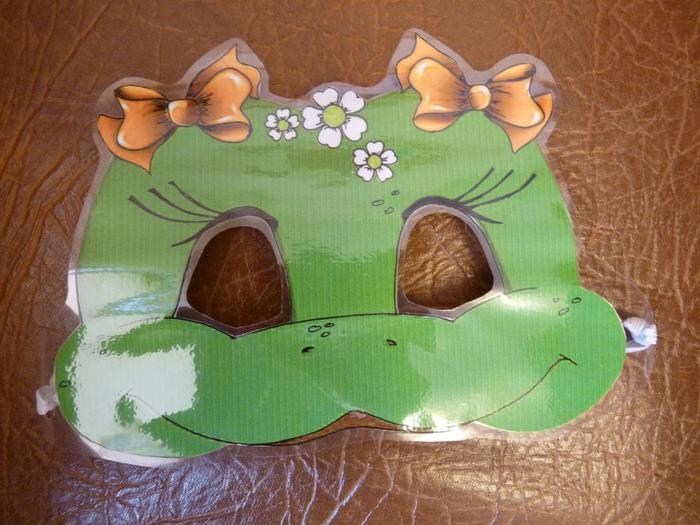 маска лягушки, как сделать маску лягушки, выкройка маски лягушки, маска лягушонка,/4682845_P1090734 (700x525, 293Kb)