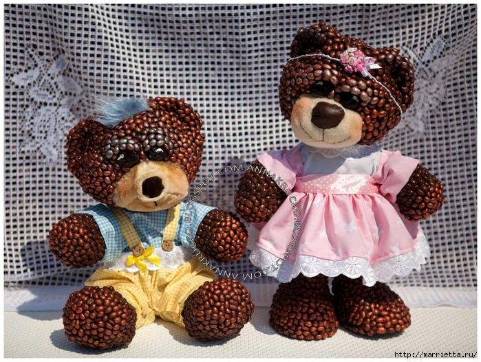 Медвежата из кофейных зерен (2) (700x527, 396Kb)