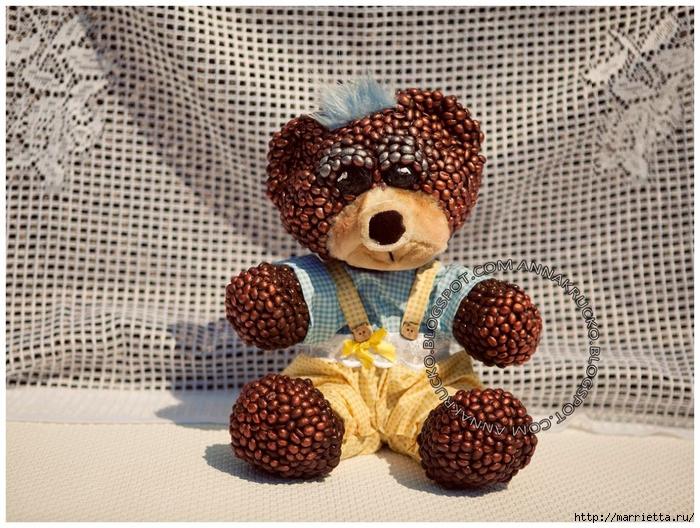 Медвежата из кофейных зерен (6) (700x528, 362Kb)
