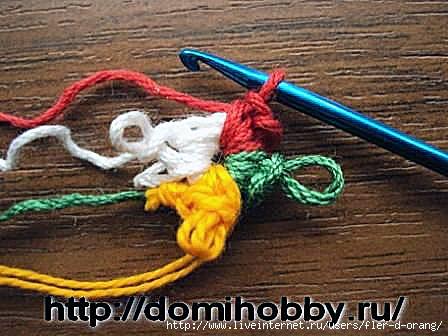 Правила смены нити при вязании крючком, жаккардовое 6