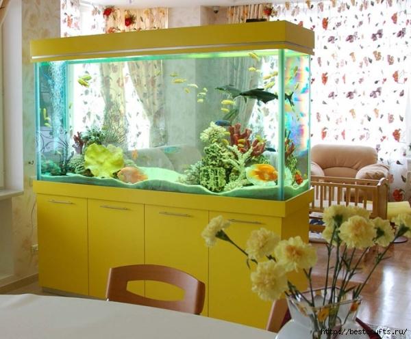 аквариум в интерьере (13) (600x496, 201Kb)