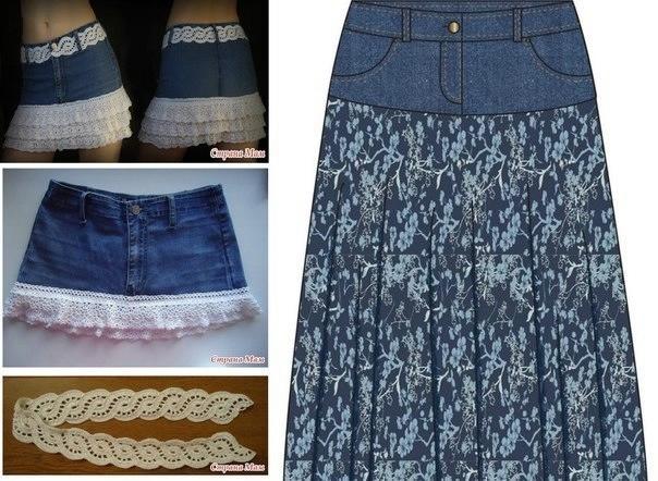 Как сделать юбку из старой ткани