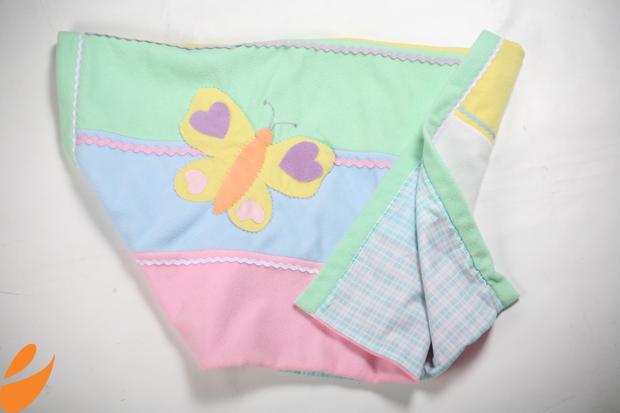 Одеяло с бабочками для детской кроватки. Шьем сами (7) (620x413, 304Kb)
