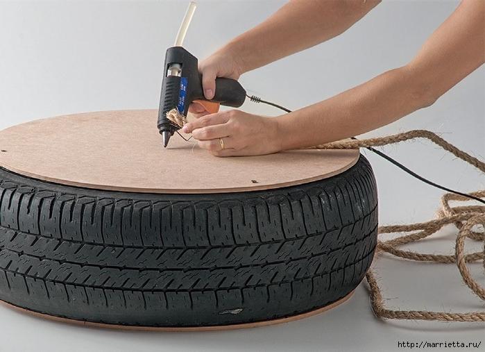 Otomano, jardineras para flores y eco-silla suave del neumático (4) (700x507, 247KB)