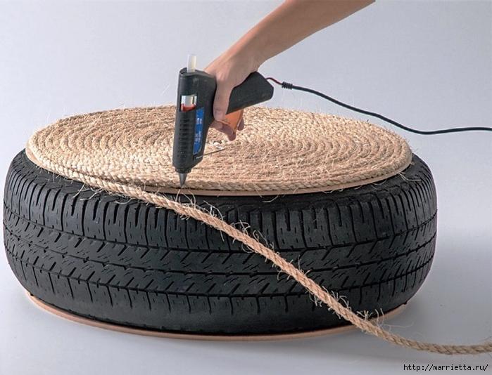 Otomano, jardineras para flores y eco-silla suave del neumático (6) (700x534, 263KB)