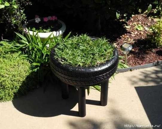 Пуфик, кашпо для цветов и мягкий эко-стульчик из покрышек (13) (542x432, 133Kb)