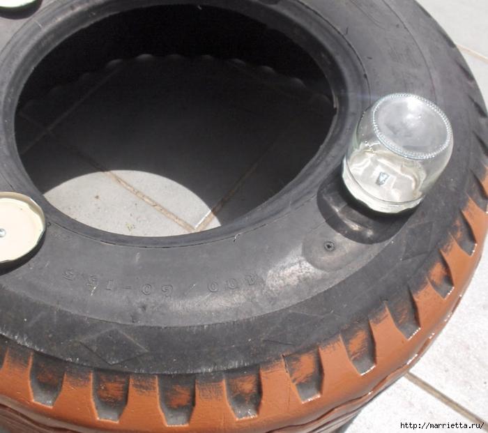 Otomano, jardineras para flores y eco-silla suave del neumático (19) (700x621, 264KB)