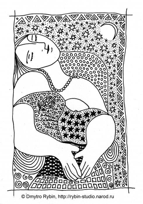 Мистическая графика гелевых ручек по мотивам Пикассо. (Д. Рыбин)/5179278_woman1_20_aa1 (490x700, 244Kb)