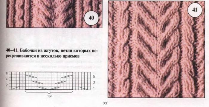 Вязание косы и жгуты спицами схемы и описания 62
