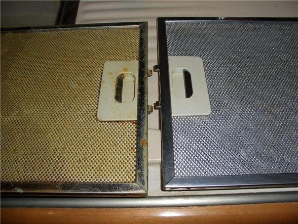 Как быстро отмыть фильтр вытяжки