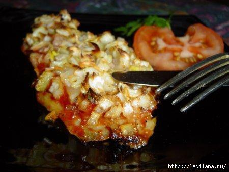 Рецепт рыбы, запеченной с чесноком и луком