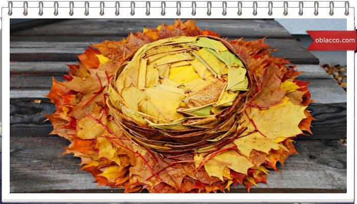 Шляпа из кленовых листьев. Мастер класс