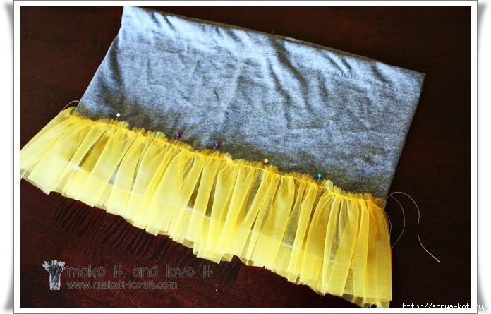 Как правильно сшить юбку из фатина на резинке