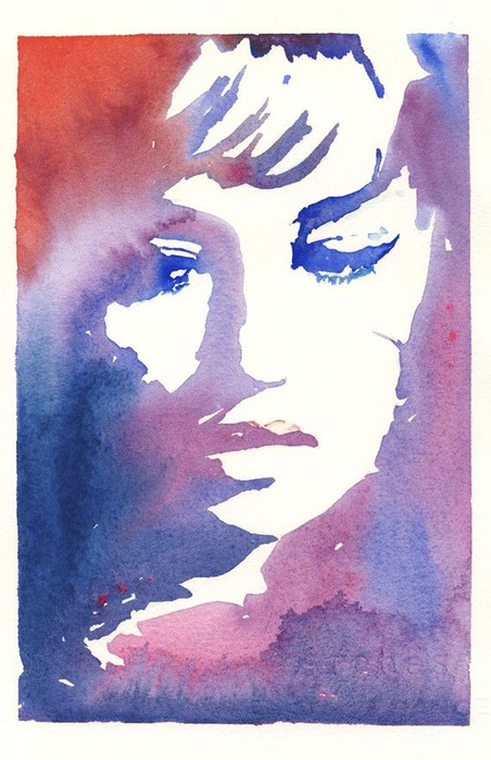 Print of Watercolor Fashion Illustration (452x700, 313Kb)