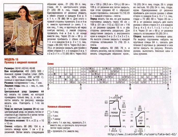 Вязание спицами кофты женские со схемой 165