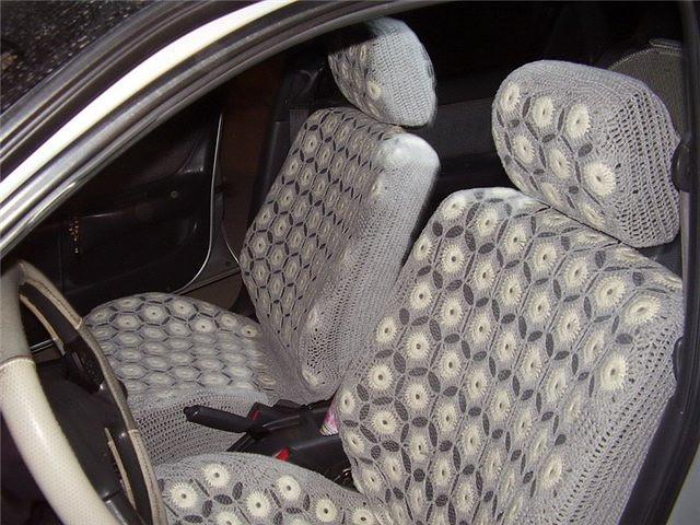Вязания чехла на машину