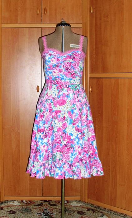 Быстро сшить платье из штапеля
