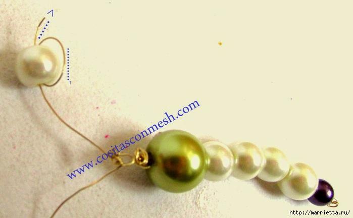 Стрекоза - кулон из жемчужных бусин. Мастер-класс (6) (700x432, 127Kb)