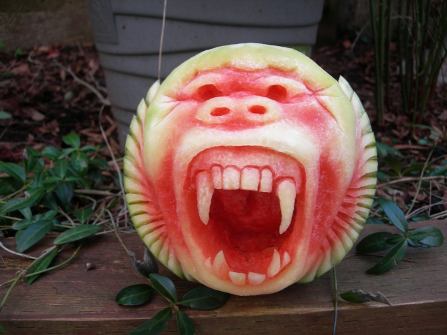 1404634287_baboon-watermelon-1 (640x480, 323Kb)