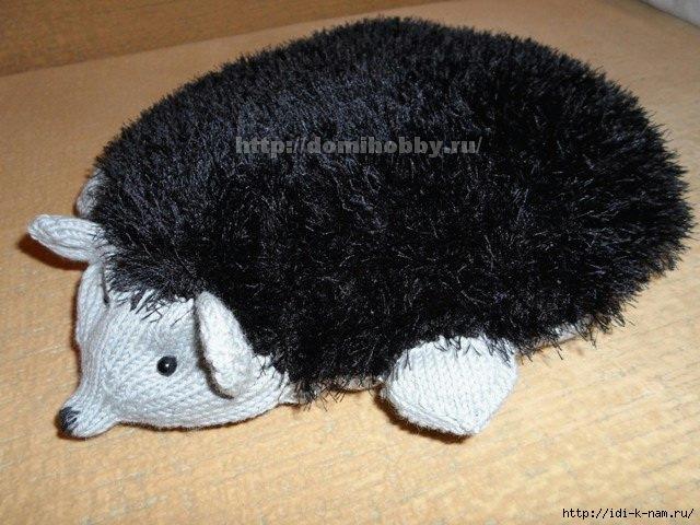 вязаная подушка ежик, как связать ежа. как связать подушку ёжика, схема вязания подушки ёжика, мастер класс по вязанию подушки ежика, Хьюго Пьюго рукоделие, http://idi-k-nam.ru/,