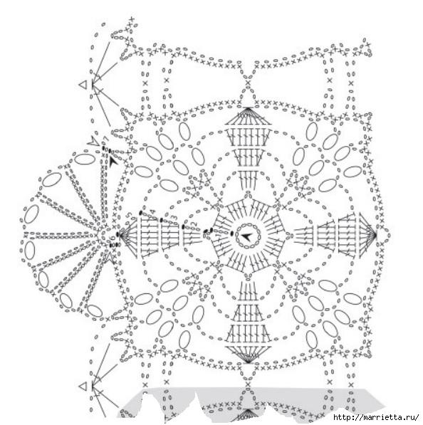 Вязание крючком. Стильные идеи и схемы для уюта в доме (20) (594x597, 180Kb)