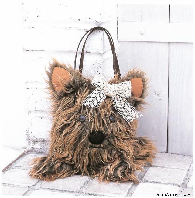 Йоркширский терьер. Меховая сумочка и переноска для собаки (7) (642x654, 257Kb)