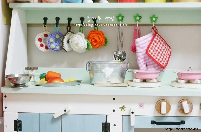 Розочки крючком для украшения кухни (4) (700x461, 206Kb)