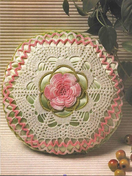 Подушки.Схемы вязания