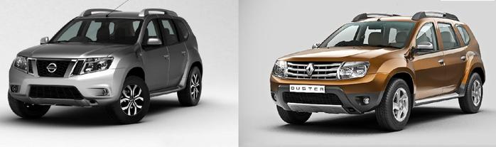 Renault Duster или Nissan Terrano - близнецы с разными одежками.