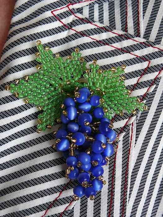 года пошагово украшения из бусин ибисера ягоды-фрукты Змей