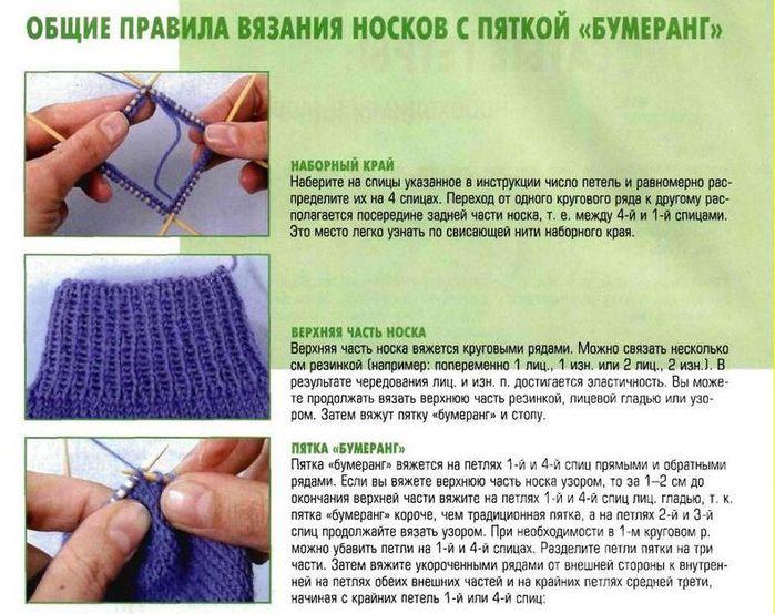Подробное вязание пятки