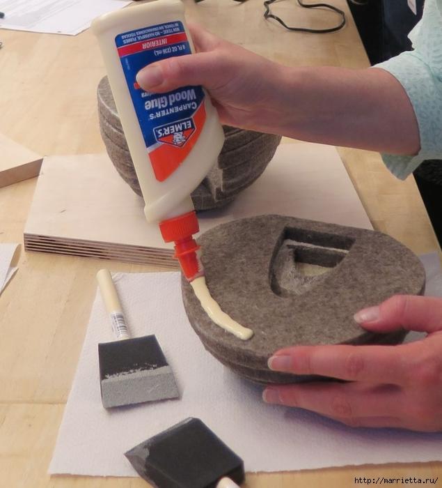 Креативная многослойная ваза из войлока (3) (635x700, 259Kb)