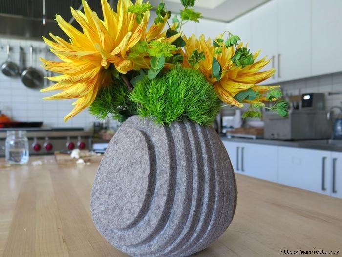 Креативная многослойная ваза из войлока (5) (700x525, 273Kb)