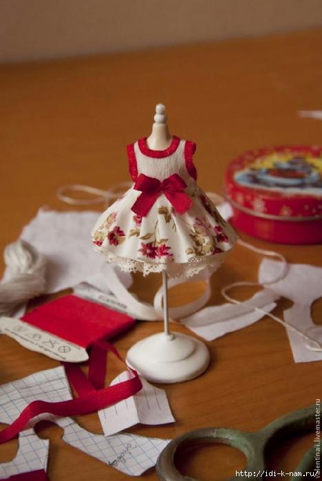 платье для маленькой куклы, как сшить красивое платье для маленькой куклы, выкройка платья для маленькой куколки,