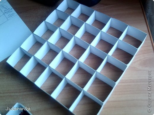 Коробка с ячейками мастер класс
