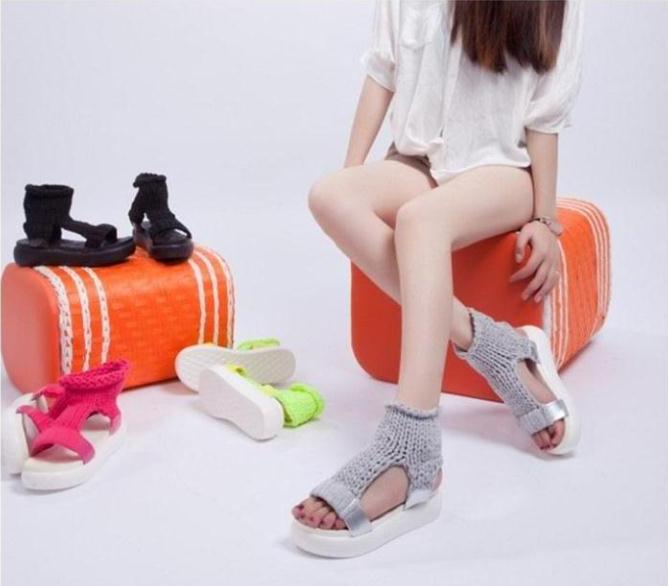 сандалии вязаные
