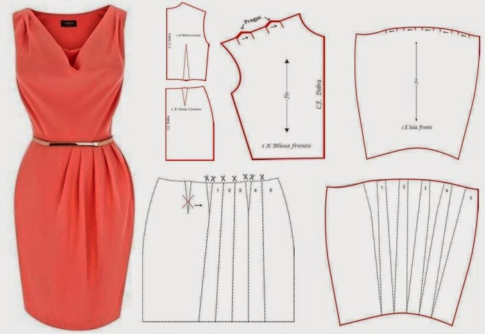 Как шить платье своими руками с фото