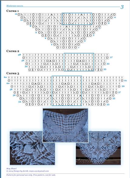 Шаль филлерид спицами со схемой и описанием 101