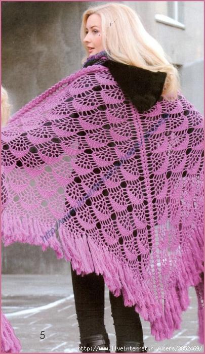 Сиреневая шаль с люрексом (405x700, 296Kb)