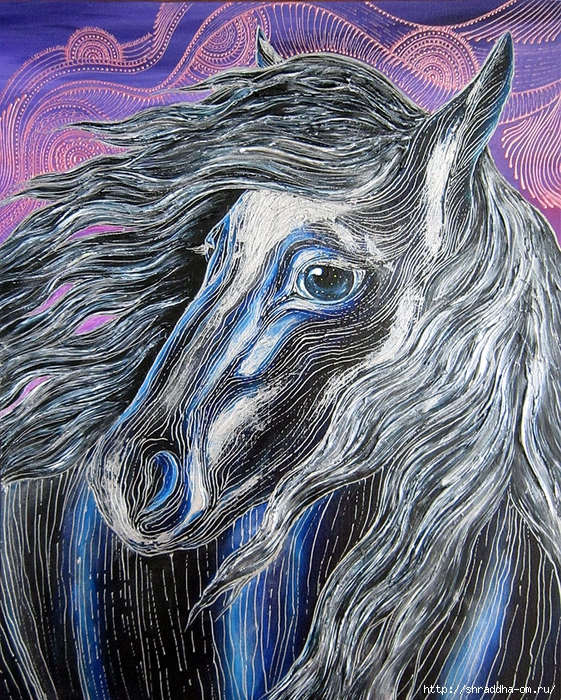 Лошадь, автор Shraddha (1) (561x700, 545Kb)