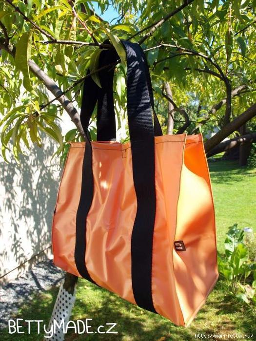 Шьем пляжную сумку из полиэтиленовой скатерти (11) (525x700, 364Kb)