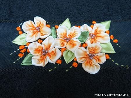 Как украсить полотенце вышивкой лентами. 4 мастер-класса (32) (450x338, 145Kb)