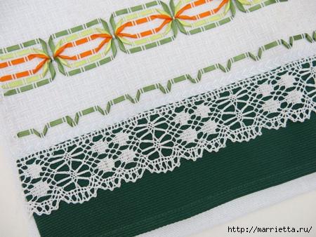 Как украсить полотенце вышивкой лентами. 4 мастер-класса (36) (450x338, 143Kb)
