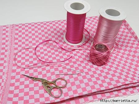 Как украсить полотенце вышивкой лентами. 4 мастер-класса (40) (450x338, 149Kb)