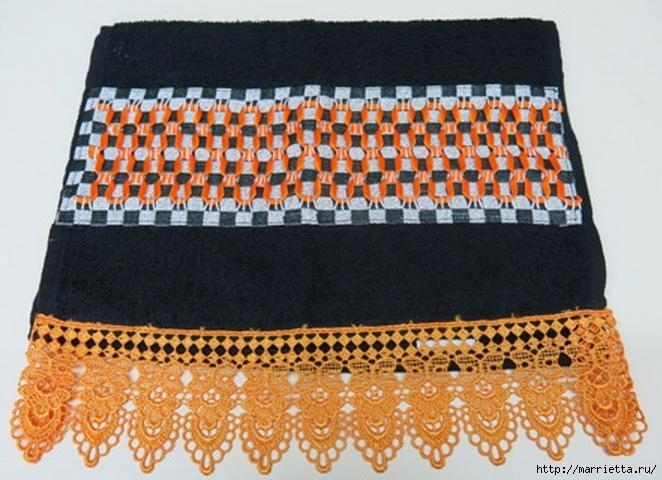 вышивка лентами на полотенце (3) (662x480, 217Kb)