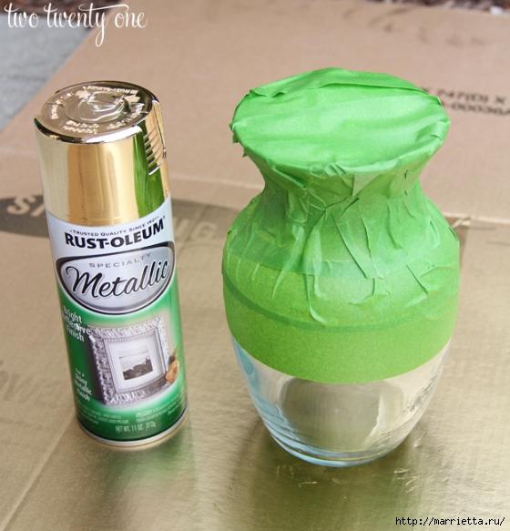 Декорирование стеклянных ваз аэрозольной краской металлик (2) (560x583, 233Kb)