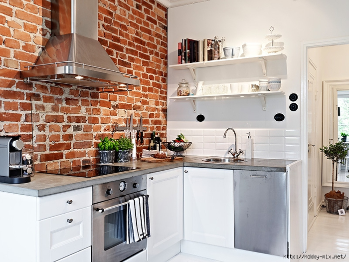 kitchen-exposed-brick-wall (700x525, 315Kb)